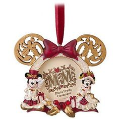 Disney Christmas Frame Ornament - Victorian Minnie and Mickey