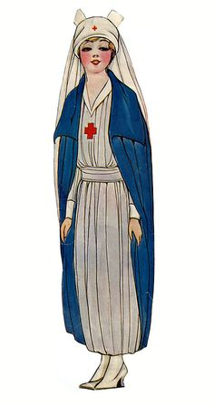 Dolly Dingle's Mother Paper Dolls 1918 - Red Cross Nurse - Grace Drayton
