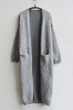 New Arrival Fashion Open-Front Maxi Cardigan with Pocket
