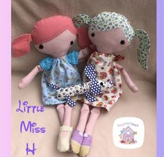 Little Miss H Custom Made Rag Doll is a lovingly handmade to order custom fabric doll Harvey'sToyShed. Buy yours here today! Handmade Soft Toys, Felt Shoes, Small Baby, All Toys, Imaginative Play, Little Miss, Fabric Dolls, Custom Fabric, Soft Fabrics