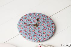 Handmade Round Circle Cath Kidston Floral Fabric Wall Mount Clocks £12.99 Available from Redchocol8