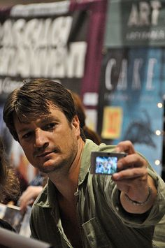 Nathan Fillion at a comic con.