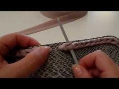 Come fare una borsa in fettuccia:partiamo dal fondo. - YouTube