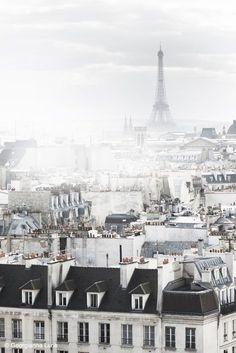 Paris Black and White - Eiffel Tower