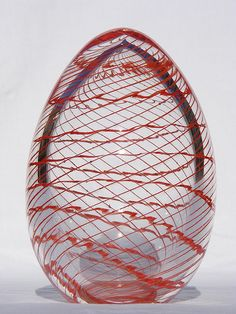 Archimede Seguso glass egg paperweight
