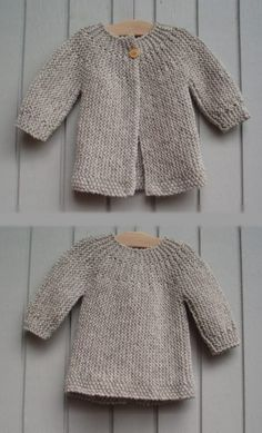Diy Crafts - Find ideas in home decor, design, shoping, cooking and much more for all your projects and interests. Baby Cardigan Knitting Pattern Free, Kids Knitting Patterns, Baby Sweater Patterns, Knitted Baby Cardigan, Hand Knitted Sweaters, Knitting For Kids, Baby Patterns, Quick Knits, Crochet Baby