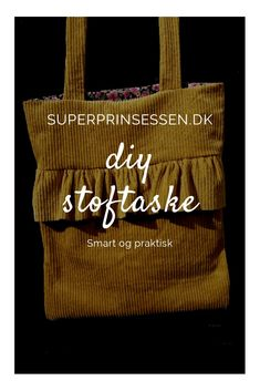 En lille let DIY for piger i alle aldre. Diy Ideas, Craft Ideas, Fun Crafts, Shopping Bag, Burlap, Reusable Tote Bags, Cool Stuff, How To Make, Fun Diy Crafts