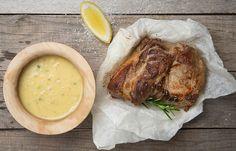 Καρέ χοιρινό με σάλτσα μουστάρδας και εστραγκόν