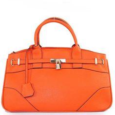 Amazon.com: Designer Inspired Purses Hermes Birkin -Similar Style London Office Tote Rectangle Medium Size in Orange: Clothing $58.99