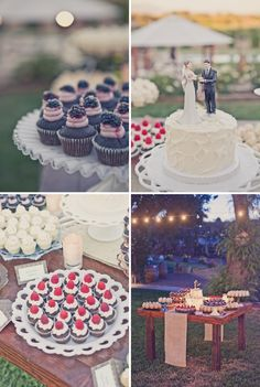 elegant outdoor wedding ideas | Elegant-outdoor-weddings-wedding-cake-alternatives-dessert-bar ...