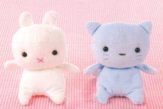DIY // Free Pattern - Bitty Baby Bunny & Kitty