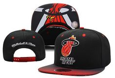 timeless design aaea7 7380e NBA Miami Heat Mitchell And Ness Snapback Hats