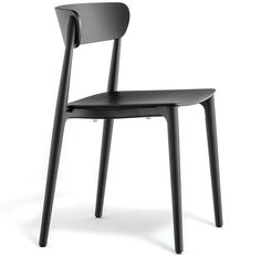 Nemea chair seems to extend into an athletic pose, with its sinuous legs in solid ash grafted to the die-casted aluminium frame placed under the plywood seat. The embracing, comfortable backrest crowns the seat. Stackable. Available in bleached ashwood, ruby red, cognac and black colour stained.
