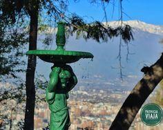 Cerro San Cristobal.  #chile #americadosul #sudamerica #viagem #viajar #ferias #vacaciones #trip #travel #inverno #santiago #view #skyline #cerrosancristobal #vista #mirador #mirante