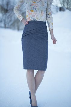 Marie-Fleurine :: sewmariefleur's Camellia Skirt by Magdalena Langa | Indiesew.com