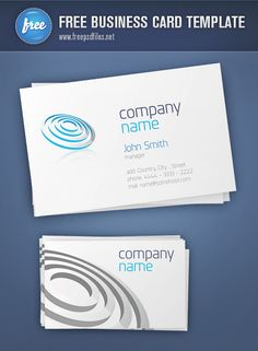 Free business card template containing both front and back views as separate PSD files. Perfect for all individuals that are on the lookout for professional, hi