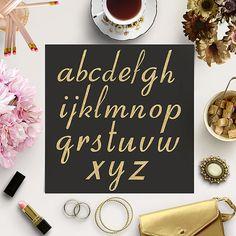 Gold Glitter Alphabet -  http://etsy.me/2afgW3w 26 pieces of high quality gold glitter alphabet.