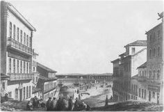 Ladeira de São Bento, em 1850, gravura de Henry Melville.  FONTE:Guia geográfico Salvador Bahia
