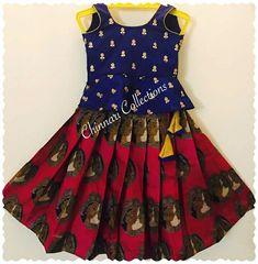 Baby Girl Frocks, Frocks For Girls, Dresses Kids Girl, Kids Outfits, Girls Frock Design, Kids Frocks Design, Baby Dress Design, Kids Indian Wear, Kids Ethnic Wear