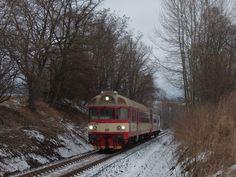 Spěšný vlak č. 1810 míří do Martinic v Krkonoších. Focené 3.1. 2015.