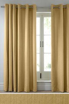 Ochre Mini Geo Eyelet Curtains