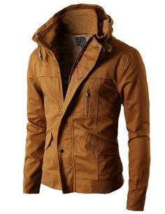 Mens High-neck Field Jackets without Hood (KMOJA024) - DOUBLJU BLOG