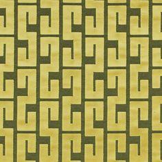 Saint Yago in Yellow by Lorenzo Castillo for Gaston Y Daniela #textiles #fabric #geometric #green