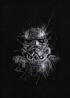 An original Messyness Art design print of a Stormtrooper from Star Wars. Disney Star Wars, Cuadros Star Wars, Star Wars Drawings, Anime Gifts, Star Wars Tattoo, Star Wars Wallpaper, Star Wars Fan Art, Star Wars Gifts, Star Wars Poster