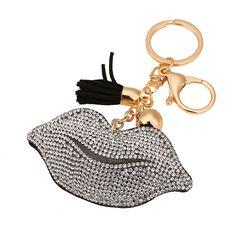 Just In Crystal Rhineston... Shop Now! http://www.shopelettra.com/products/crystal-rhinestone-lips-keychain-1?utm_campaign=social_autopilot&utm_source=pin&utm_medium=pin