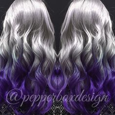 Silver and Purple Ombre done by: Sara Reed for pepperbox LLC. Located in Plano, Texas.