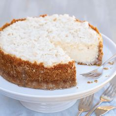 We love this classic coconut cake flavor turned into a decadent cheesecake.
