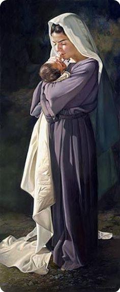 Moeder Maria ... met baby Jezus