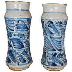 Pair of 18th Century Abarello Jars | From a unique collection of antique and modern vases at http://www.1stdibs.com/furniture/dining-entertaining/vases/