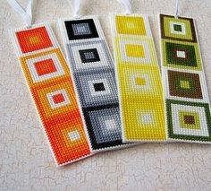 STITCHNMOMMA: My First Cross Stitched Bookmarks