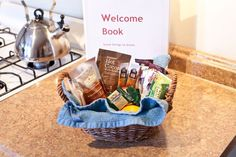 DIY hosting with a welcome basket and other amenities