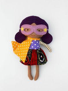 AFRO DOLL, black doll, ragdoll, superhero doll, fabric dolls, dolls, cloth dolls, handmade doll, african american doll, doll like me, custom doll,
