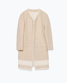 Image 9 of LINEN COAT WITH BORDER from Zara