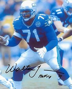 a145c052e Walter Jones Seattle Seahawks signed autographed, football 8X10 Photo, COA  with the proof photo will be included