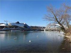 Musée des Confluences et pont Raymond Barre, Lyon, Rhône - 24/02/2014