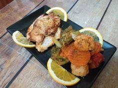 Piept de pui fript cu sote de legume 😋👩🍳 Tandoori Chicken, Meat, Ethnic Recipes, Food, Essen, Meals, Yemek, Eten