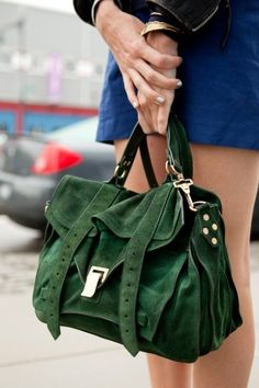Gorgeous green suede