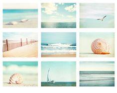 Beach Photo Set Six 11x14 8x10 5x7 Photographs von CarolynCochrane