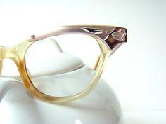 cateye eyeglasses frames pink metal plastic womens glasses 1950s eyeglass frames cat-eye cat-eye vintage eyeglass 1950s midcentury