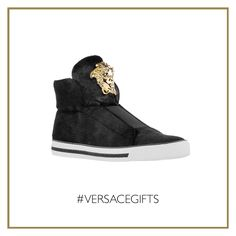 The #Versace Palazzo sneakers are an easy and stylish solution to enhance a casual holiday look. #VersaceMenswear #VersaceGifts