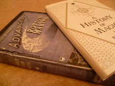 DIY Harry Potter prop replicas. I want to dress up my college text books like these:)