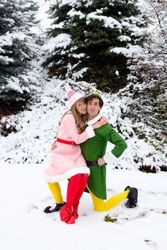 Don't miss out on our collection of matching Halloween costumes for couples to help kickstart your imagination. The House of Cornwall: Buddy the Elf and Jovie Halloween Costumes. Elf Costume, Cute Costumes, Couple Halloween Costumes, Halloween Kostüm, Diy Halloween Costumes, Halloween Cosplay, Costume Ideas, Group Halloween, Costume Contest