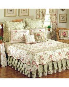 Enterprises Enterprises Chantelle Cotton Reversible Quilt , Green, Size Full - Queen from Overstock | BHG.com Shop