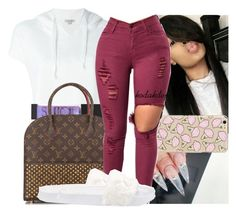 """🐚"" by kodakdej ❤ liked on Polyvore featuring Calvin Klein Jeans, Surratt, Louis Vuitton and Puma"