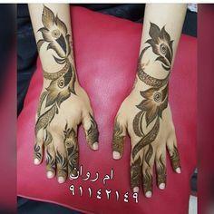 Taken by 7ana_design New Henna Designs, Arabic Henna Designs, Back Hand Mehndi Designs, Modern Mehndi Designs, Henna Tattoo Designs, Arabian Mehndi Design, Khafif Mehndi Design, Mehndi Design Pictures, Beautiful Mehndi Design