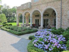 formal garden by loggia